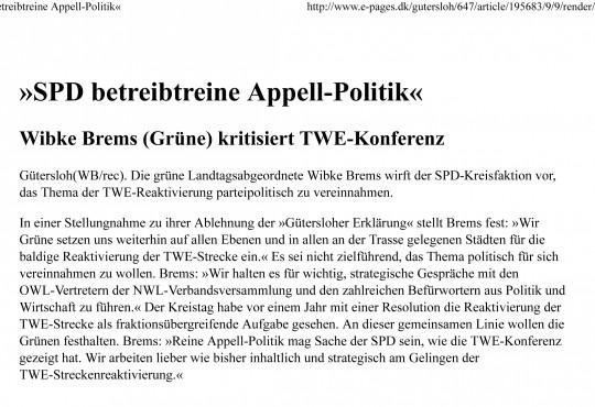 »SPD betreibtreine Appell-Politik«